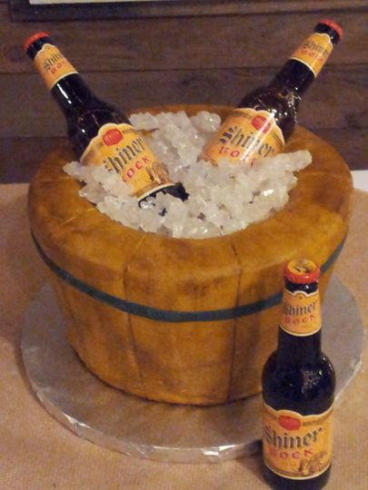 Liquor themed cake