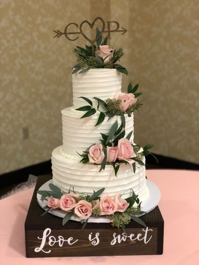 Buttercream ruffled and floral toppers