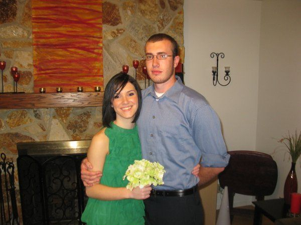 Sharayah and Adam eloped in my home September 2009.  Young love!