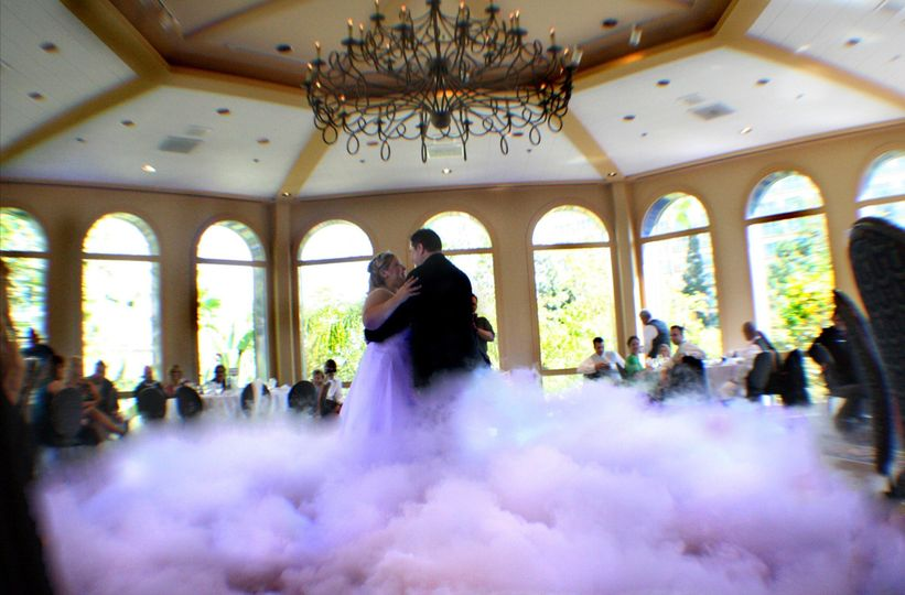 First dance on a bed of clouds