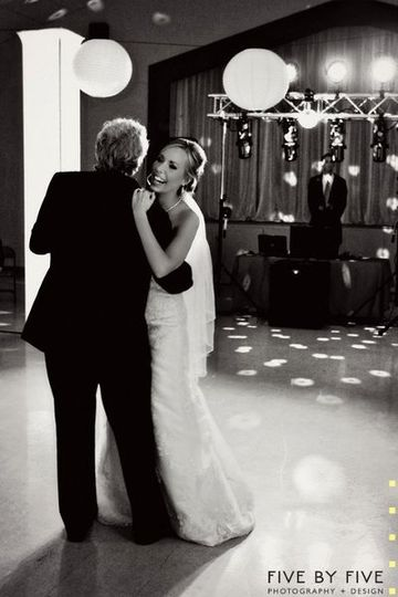 The bride with her father dancing