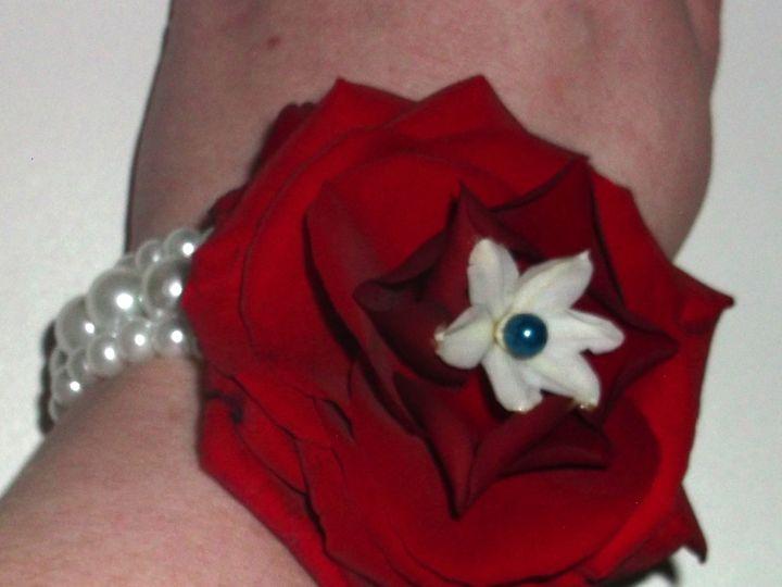 Tmx 1400777948614 Redwhiteandbluecorsag Portland wedding florist