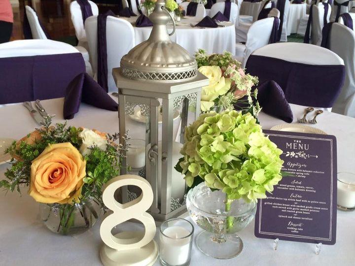 Lantern and floral decor