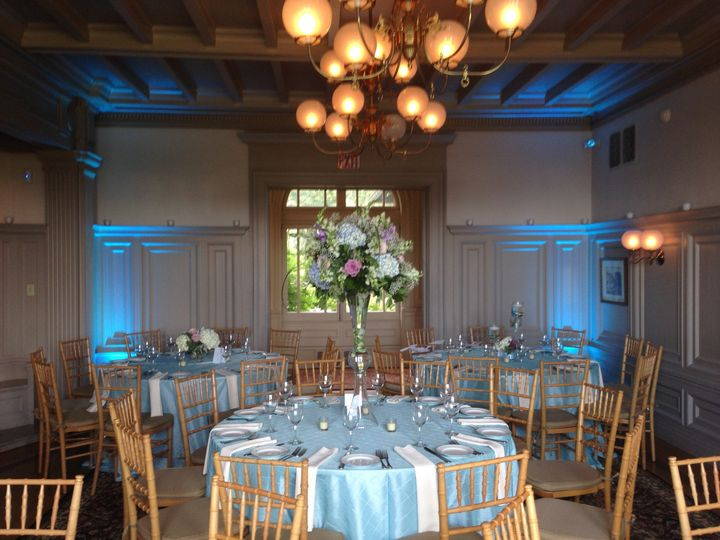 Our lighting enables the venue to perfectly match your decor