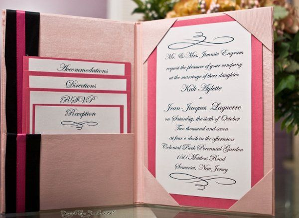Tmx 1222438652731 Pink Invitation 4 Union wedding planner