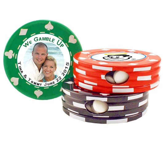poker chip mint tins green red black