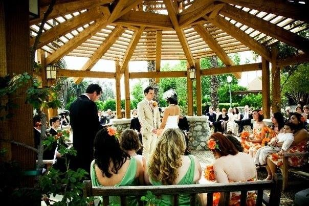 An intimate wedding in the California gazebo at Citrus Park in Riverside, CA.