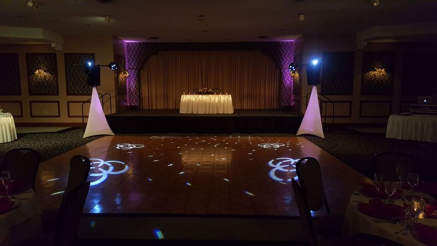 Up-lighting, intelligent dance floor lighting, professional audio