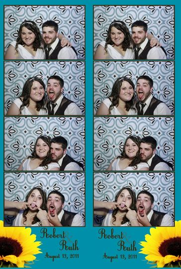Virginia Beach Photobooth - Personalized photostrip layout