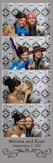 Virginia Beach Photobooth - Classic photostrip layout