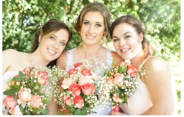 Hair and Airbrush Makeup for bridal party by Erika Lopatinsky