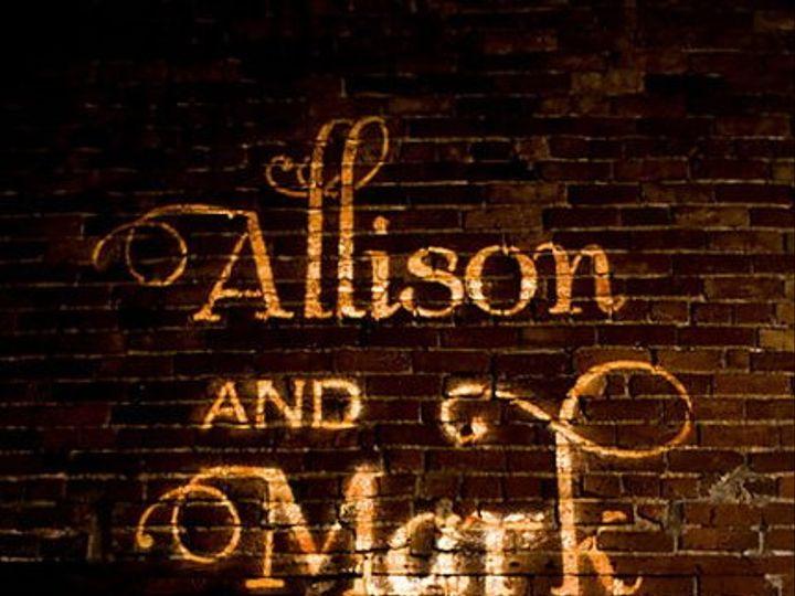 Tmx 1336089200736 AlisonMarkCakeGobo Cleveland wedding eventproduction