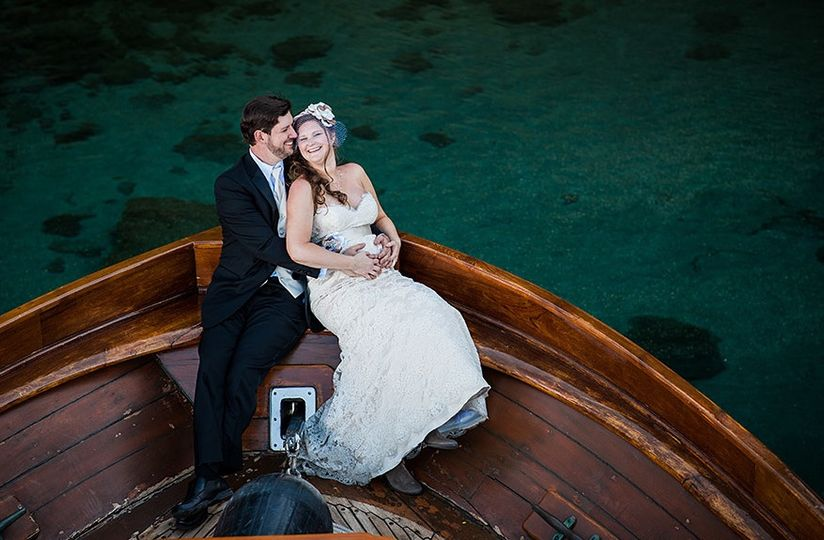 married on a classic tahoe wooden yacht 51 1067050 1558313147