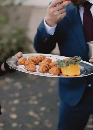 Mac and cheese puffballs
