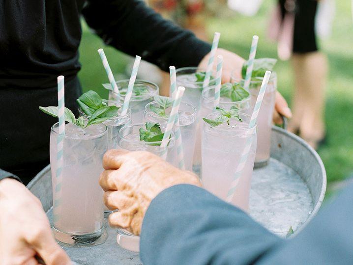 basil lemonade welcome cocktail
