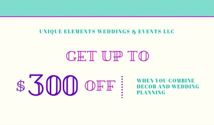 Unique Elements Weddings and Events, LLC 1