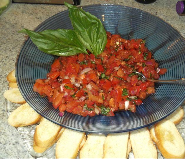 Tomato Brochette & Crostini