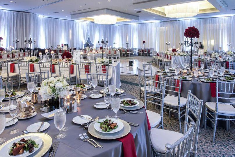 Ballroom with drape
