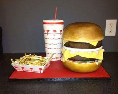 Fast food theme cake