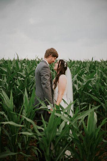 Corn field couples portraits
