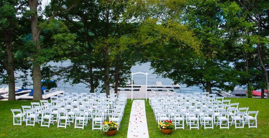 Lake Front Wedding Set up