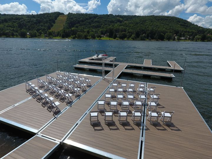Our dock can hold up to 75-100 people.