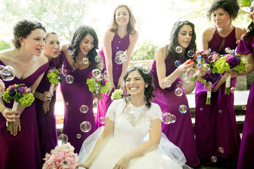 Smiles and bubbles - Gary Flom Wedding Photography