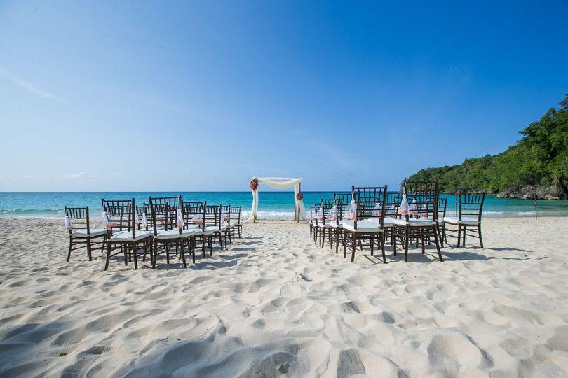 Sample beach wedding