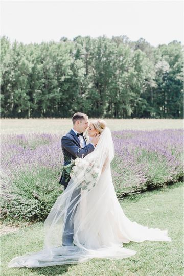 Couple in a lavender field