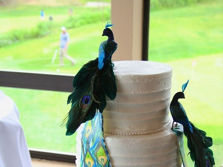 Tmx 1377386833155 Peacock Anchorage wedding cake