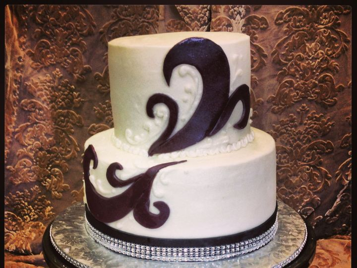 Tmx 1387522570162 Swirlsapri Anchorage wedding cake