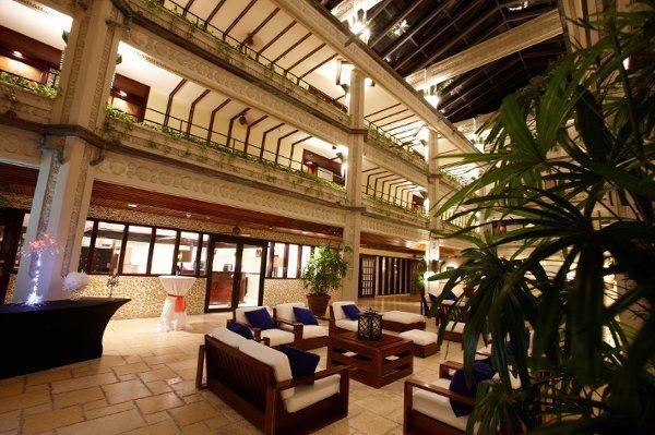Palm terrace inside