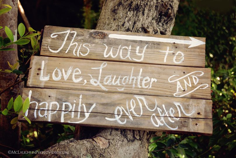 Wedding Sign for Guests at the Hilton Key Largo