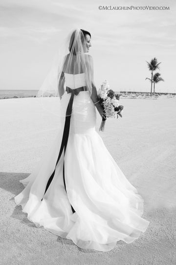 Bride Photos on the Beach at the Islander Resort