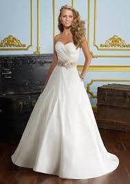Mori Lee silky taffeta ball gown priced at $459.00.