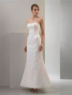 Venus Bridal designed this all over silk lace gown with a corrset back. Priced at $438.00.