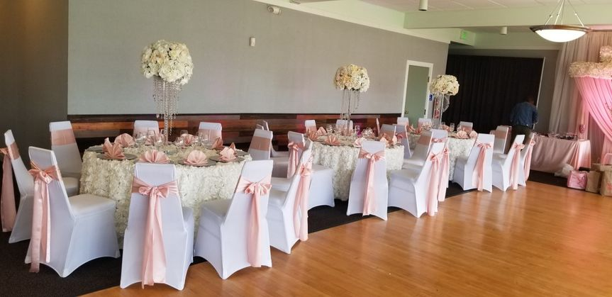 Event Space with Chair Covers