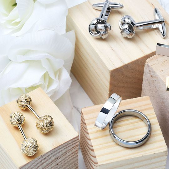 for the groom cufflinks wedding bands crop 2