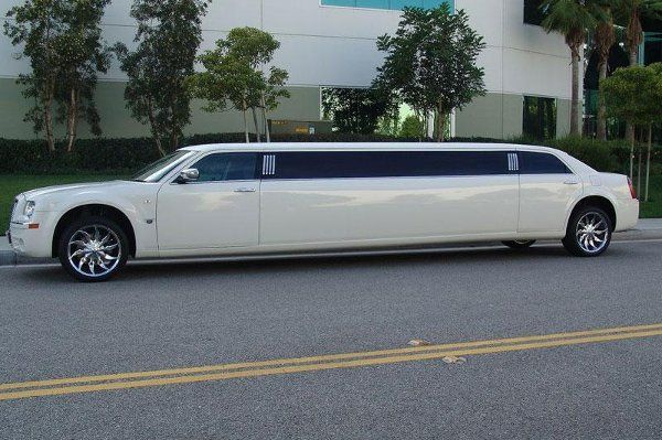 White limo parked