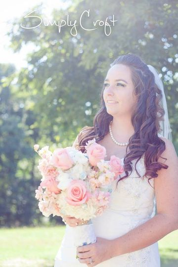 Bride after the wedding at the hackberry tree