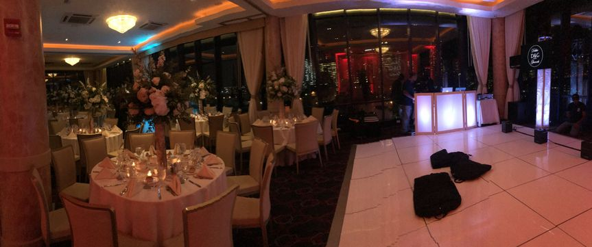Venue with classy tables