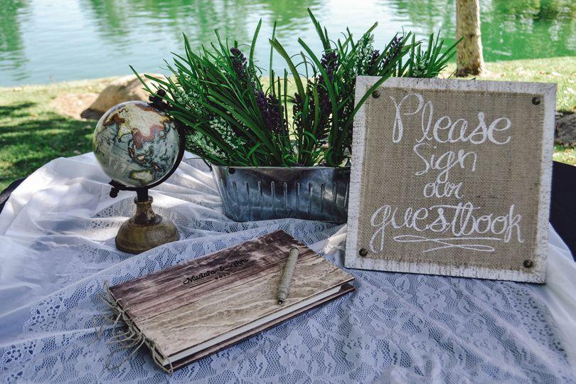 Rustic - Inspired Outdoor wedding reception