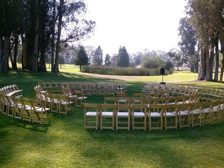 Our circular ceremony setup.