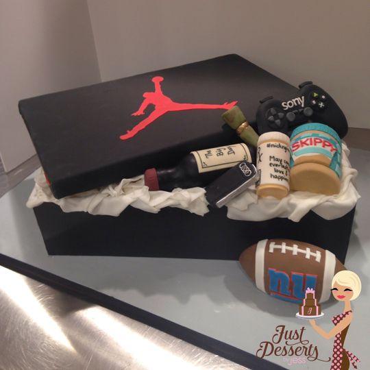 Jordan Sneaker Box Favorite Things Grooms Cake