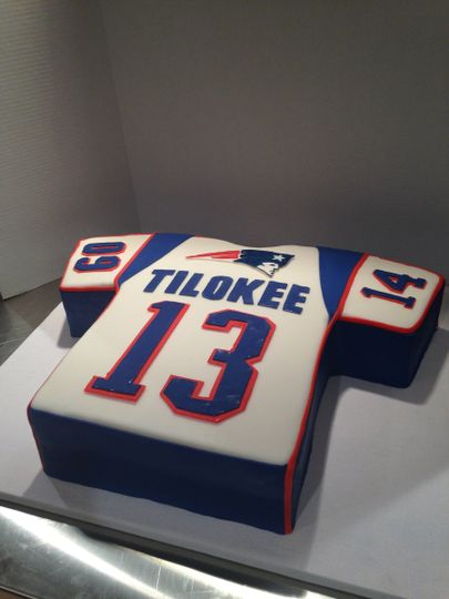 New England Patriots Jersey Grooms Cake