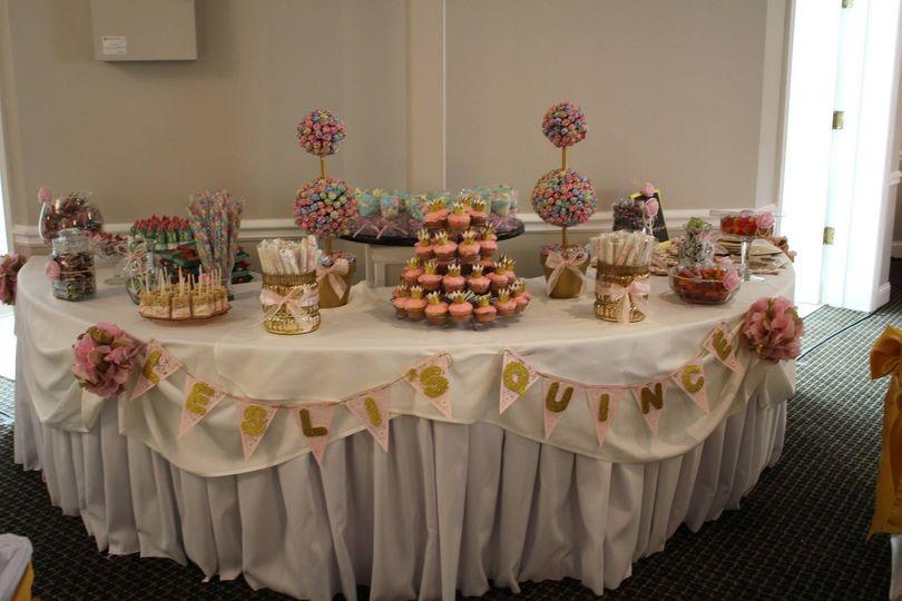 Wedding pastry area