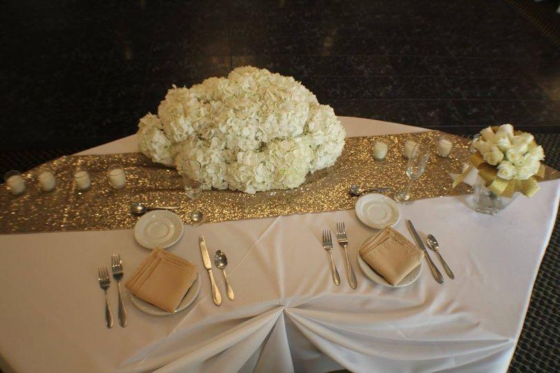 Couple's table setup