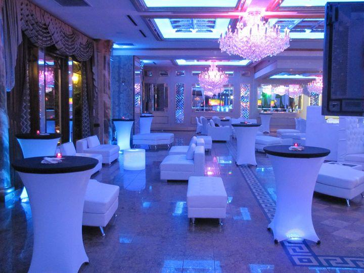 Cocktail lounge setup