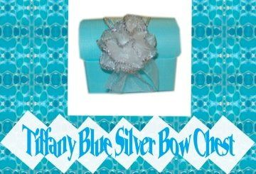 Tiffany Blue Chest with Sparkly Silver Lined Puff