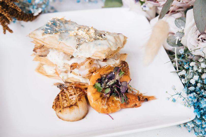 Seafood Napoleon